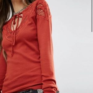 2/$22 Free People 'With Love' Long Sleeve